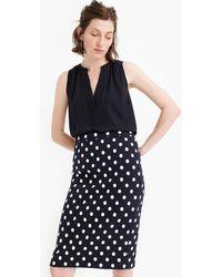 J.Crew - Petite Pencil Skirt In Polka Dot Textured Tweed - Lyst