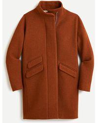 J.Crew Cocoon Coat In Italian Stadium-cloth Wool - Multicolor