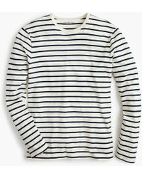 J.Crew - Mercantile Broken-in Long-sleeve T-shirt In Deck Stripe - Lyst