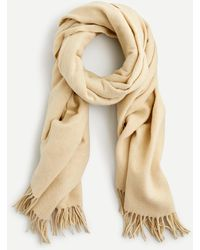 J.Crew Fringed Scarf In Speckled Wool - Natural