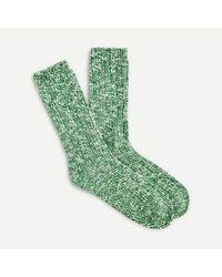J.Crew Marled Camp Socks - Green