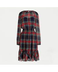 J.Crew Cinched-waist Dress In Stewart Tartan - Multicolour