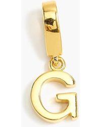 J.Crew Demi-fine 14k Gold-plated Letter Charm - Metallic