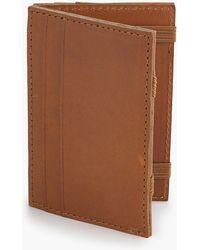 J.Crew Magic Wallet In Italian Leather - Brown