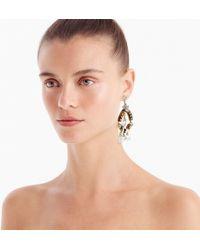 J.Crew - Crystal And Tortoise Earrings - Lyst