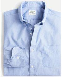 J.Crew Stretch Secret Wash Shirt In End-on-end Organic Cotton - Blue