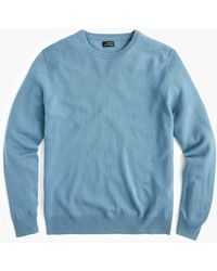 J.Crew Everyday Cashmere Crewneck Sweater In Solid - Blue