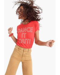 """J.Crew - """"dance It Out"""" T-shirt - Lyst"""