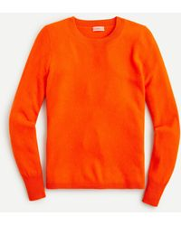 J.Crew Cashmere Crewneck Jumper - Orange