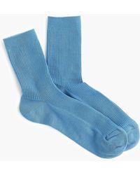 J.Crew - Ribbed Ankle Socks - Lyst