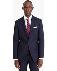 J.Crew Ludlow Slim-fit Suit Jacket With Double Vent In Italian Wool - Blue