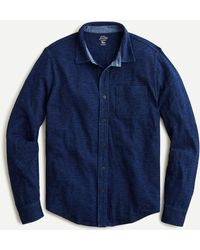 J.Crew Indigo-dyed Harbor Shirt - Blue