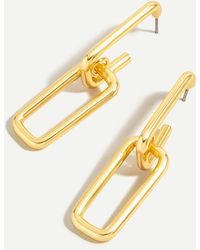 J.Crew Double Link Drop Earrings - Metallic