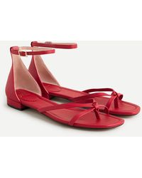 J.Crew Strappy Abbie Sandals - Red