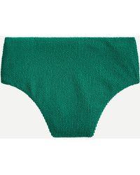 J.Crew Scrunchie High-cut Waist Bikini Bottom - Green