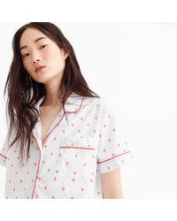 J.Crew - Pyjama Set In Fleur-de-lis - Lyst