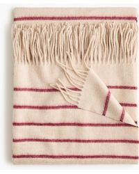 J.Crew - Home Thin-striped Cashmere Throw - Lyst