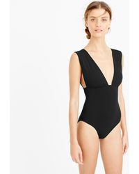 110b91f45c097 J.Crew Plunge V-neck One-piece Swimsuit in Green - Lyst
