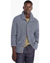 J.Crew - Marled Cotton Mockneck Cardigan Sweater - Lyst