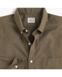 J.Crew - Tall Stretch Secret Wash Shirt In Solid Heathered Poplin - Lyst