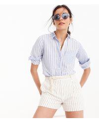 J.Crew - Relaxed Boy Shirt In Cotton Linen Mixed Stripe - Lyst