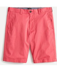 "J.Crew 9"" Stretch Short - Red"