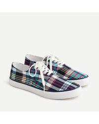 J.Crew Sperry® Cloud Cvo Deck Sneakers In Plaid - Blue