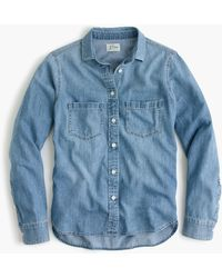 J.Crew Everyday Chambray Shirt - Blue