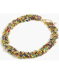 J.Crew - Twisty Beaded Necklace - Lyst