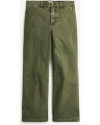 J.Crew Garment-dyed Slim Wide-leg Jean - Green