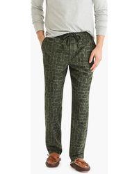 J.Crew - Flannel Pyjama Pant In Log Party - Lyst