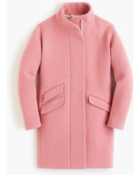J.Crew Cocoon Coat In Italian Stadium-cloth Wool - Pink