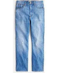 "J.Crew 10"" Vintage Straight Jean In Surf Storm Wash - Blue"