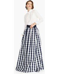 J.Crew - Gingham Belted Taffeta Ball Skirt - Lyst