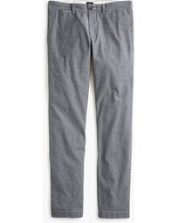 J.Crew 484 Slim-fit Chino Pant In Stretch Chambray - Blue