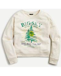 J.Crew Big Sky Sweatshirt In Original Cotton Terry - Natural