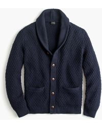 J.Crew - Quilted Cotton Cardigan Jumper - Lyst