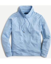 J.Crew Cloud Fleece Funnelneck Sweatshirt - Blue