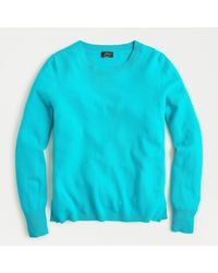 J.Crew Long-sleeve Everyday Cashmere Crewneck Sweater - Blue