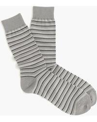 J.Crew - Striped Dress Socks - Lyst