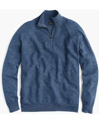 J.Crew - Rugged Cotton Half-zip Sweater - Lyst