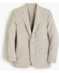 J.Crew Ludlow Classic-fit Unstructured Suit Jacket In Cotton-linen - Multicolor