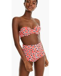 3884c52458 J.Crew Underwire Bikini Top In Polka Dot in Blue - Lyst