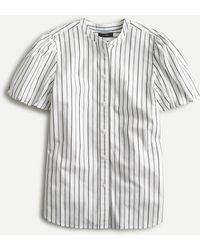 J.Crew - Classic-fit Short Puff-sleeve Top In Stripe - Lyst
