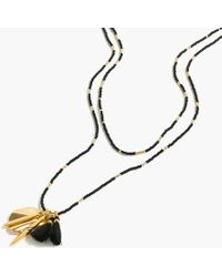 J.Crew - Beaded Shell-and-tassel Pendant Necklace - Lyst