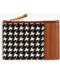 J.Crew Coin And Card Case In Houndstooth - Black