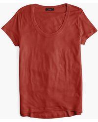 J.Crew - Scoopneck T-shirt - Lyst