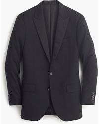 J.Crew Ludlow Tuxedo Jacket In Italian Wool - Black