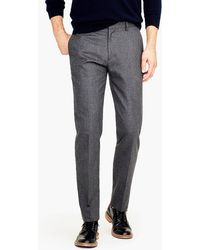 J.Crew - Ludlow Slim-fit Unstructured Suit Pant In English Wool-cotton Twill - Lyst
