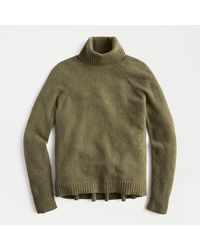 J.Crew Turtleneck Sweater In Supersoft Yarn - Green